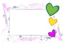 Texturerad hjärta stock illustrationer