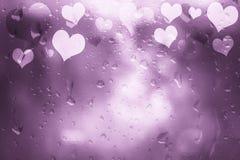 Texturerad hjärtabakgrund för rosa färger abstrakt exponeringsglas Arkivfoto