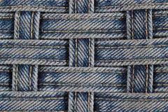 Texturerad jeans Arkivfoto