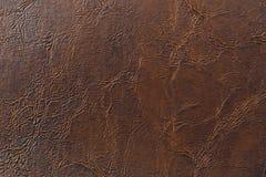 Texturerad läderbakgrund Arkivbild