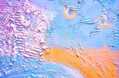 Texturerad målning, abstrakt målning Idérik abstrakt hand målad bakgrund Grov målning Fragment av akrylmålning på ca Royaltyfri Fotografi