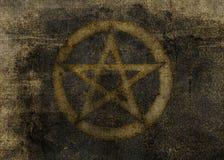 texturerad mörk pentagram för bakgrund Arkivfoton