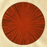 Texturerad materiell bakgrund med den röda tappninggränsen Arkivfoto