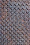 Texturerad metallspisgallerbakgrund i vävmodell Arkivbild