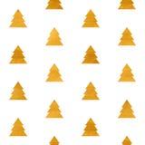 Texturerad modell för jul sömlös geometrisk guld Arkivbilder