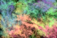 Texturerad rök, abstrakt färgrikt Royaltyfria Foton