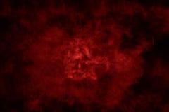 Texturerad rök, abstrakt rött och svart Arkivbild