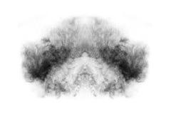 Texturerad rök, abstrakt begreppsvart som isoleras på vit bakgrund Arkivbilder