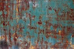 Texturerad rostig metall Arkivfoton