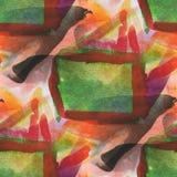 Texturerad sömlös palettguling, grön bild stock illustrationer