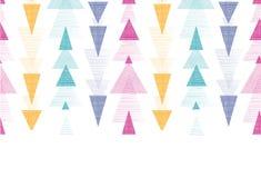 Texturerad sömlös pilbandhorisontalgräns royaltyfri illustrationer