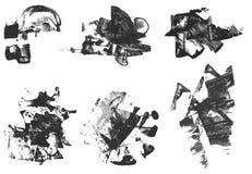 texturerad set för designelementgrunge Arkivfoton
