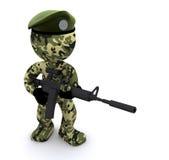 texturerad soldat för kamouflage 3d Royaltyfri Foto