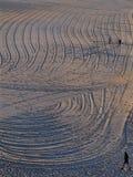 Texturerad strandsand Royaltyfri Fotografi