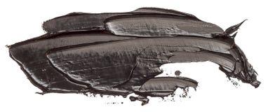 Texturerad svart slagl?ngd f?r oljam?larf?rgborste som isoleras vektor illustrationer
