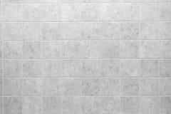 Texturerad tegelplattabakgrund för kök och för bad vit arkivbilder