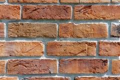 Texturerad tegelsten i väggen Royaltyfri Foto