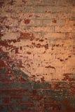 Texturerad tegelstenvägg Royaltyfria Foton