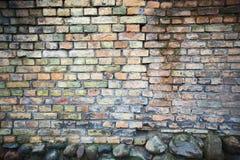 Texturerad tegelstenvägg Royaltyfri Fotografi