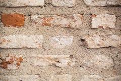 Texturerad tegelstenvägg Royaltyfri Bild