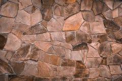 Texturerad textur av ett gammalt stenar v?ggen Tapet f?r bakgrund och design fotografering för bildbyråer