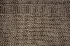 Texturerad torkdukebakgrund med den bruna skärmmodellen Royaltyfria Foton