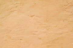 Texturerad vägg av orange färg Royaltyfri Fotografi