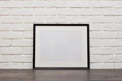 Texturerad vägg av vit tegelsten Bakgrund textur Arkivbild