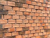 texturerad vägg för bakgrund tegelsten Royaltyfria Bilder