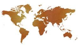 Texturerad översikt av världen Royaltyfri Foto