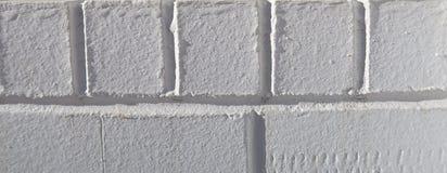 Texturerad vit tegelstenbakgrund Royaltyfri Fotografi