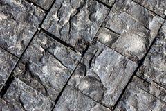 Texturerad yttersida av en sten Royaltyfri Foto