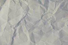 Texturerad yttersida av skrynkligt papper Royaltyfri Fotografi