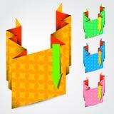Texturerade färgpappersband Arkivbild