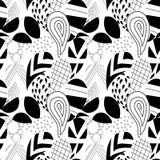 Texturerade geometriska paisley seamless modell Royaltyfria Foton