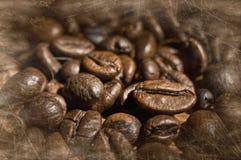 Texturerade kaffebönor Fotografering för Bildbyråer