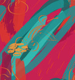 Texturerade markörbuseslaglängder och körsbär på ljusa rosa färger Arkivfoton