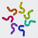 Texturerade origamipilar Arkivfoton