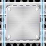 texturerade rivets för metallplatta Arkivfoto
