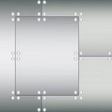 texturerade rivets för metallplattor Arkivfoto