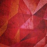 Grungevinebakgrund med trianglar texturerar Royaltyfria Bilder
