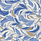 Texturerar seamless fjädrar för blått Arkivbild