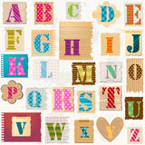 Texturerat alfabet Royaltyfri Fotografi