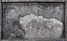 Texturerat av brutet bruk för cementväggyttersida som bakgrund, backdr Arkivbilder