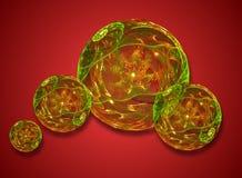 texturerat chrystal exponeringsglas för bollar stock illustrationer