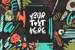 Texturerat dekorativt presentationskort stock illustrationer