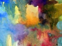 Texturerat färgrikt för abstrakt begrepp för vattenfärgkonstbakgrund Fotografering för Bildbyråer