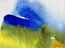 Texturerat färgrikt för abstrakt begrepp för vattenfärgkonstbakgrund Royaltyfri Bild