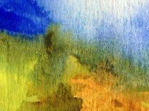 Texturerat färgrikt för abstrakt begrepp för vattenfärgkonstbakgrund Royaltyfria Foton
