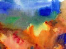 Texturerat färgrikt för abstrakt begrepp för vattenfärgkonstbakgrund Arkivbilder